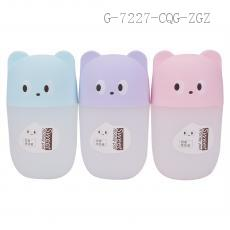 AX1289 Cute Bear Head Frosted Semitransparent PP Money Box Saving Pot