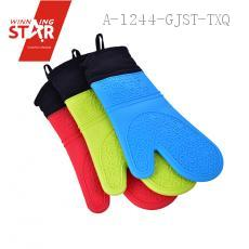 Home Kitchen Silicone Oven Gloves Heat Resistant Gloves Temperature