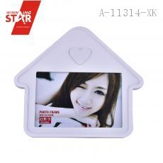 Contemporary White Wooden House Shaped Family Collage Picture Frame