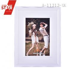 White Picture Frame Hinged Leg simple creative design desktop photo frame 10*15cm