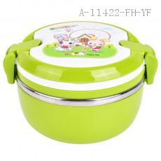 Stackable stainless steel bento lunch box for kids