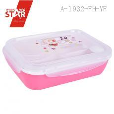 leakproof bento lunch box with 4 compartments pink plasticlunch box with transparent cover spoon