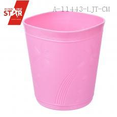 Flower Pattern Square Waste Bin Plastic Waste Bin Pink Simple Waste Bin