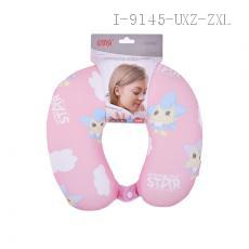Wining Star Memory Foam Colored Printing U-Shape Travel Neck Pillow