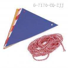 Colorful Triangle Flags with Wave Point (12 pcs)