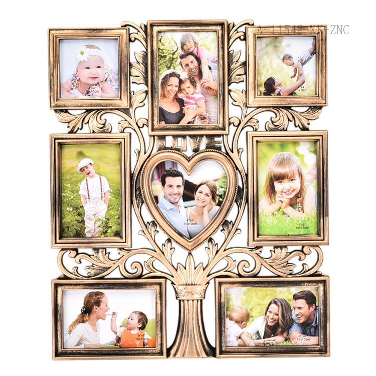 F-05 New Design Creative 8 Frames Rectangle and Heart Shape Combined Treelike Structure Rahmen