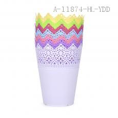 3031# Crown Shape PP Lovely Flower Pot Various Color