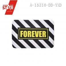 FOREVER Cute 40*60*1.2cm Simple Letters Strip Black-White Slash Mat Ground Flannel Carpets of Living Room Bedroom Rug Ca