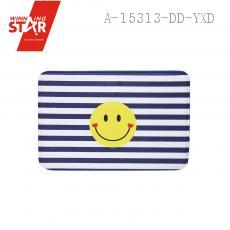 Cute 60*60*1.2cm Smily Facial Expression Strip Door Mat Ground Flannel Carpets of Living Room Bedroom Rug Carpeted Baby