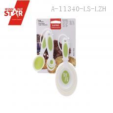 28677 10pcs/set Measuring Spoons Colorful Food Grade Plastic Multi Size And Different Capacity Measure Spoon Super Usef