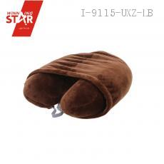 Hot selling portable u-shape memory foam hoody pillow u shape with hood travel neck pillow