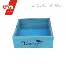 1804 19.7*19.7*7cm Wooden Flower Pot Flower Vase Rectangle Box
