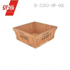 1806 9.5*9.5*8cm Wooden Garden Planter Box Trough Pot Wooden Flowerpot