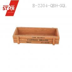 1807 21.8*8*4.5cm  Wooden Flower Pot Flower Vase Rectangle Box