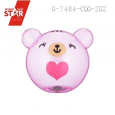 AP0768 Transparent Bear Head Saving Pot Piggy Bank Money Box