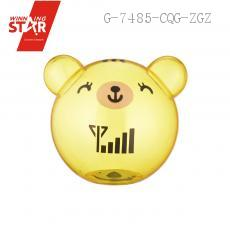 AP0757 Transparent Bear Head Saving Pot Piggy Bank Money Box