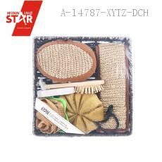 Square Bathroom SIX-PIECE With Rose Bath Ball Loofah Bath Ball Comb Back Rubs Towel 8-shaped Grinding Feet Stone