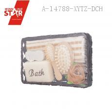 Bathroom SIX-PIECE With Rose Bath Ball Embroidery Square 8-shaped Grinding Feet Stone Elliptical Wooden Comb Elliptical