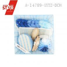 Bathroom SEVEN-PIECE With Sponge Loofah Bath Ball Comb Back Rubs Towel Article Bath Heart Grinding Feet Stone Massage Co