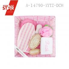 Bathroom SEVEN-PIECE With Sponge Massage Comb Rose Bath Ball Handle Comb 8-shaped Grinding Feet Stone Slipper Glove