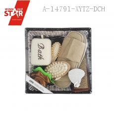 Bathroom SEVEN-PIECE With Sponge Bath Flower Slipper Massage Comb Back Rubs Towel Heart Grinding Feet Stone Comb