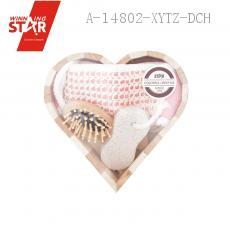 Small Size Heart-shaped Bathroom THREE-PIECE With Comb Grinding Feet Stone Back Rubs Towel
