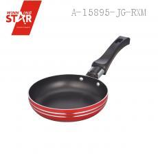 XJ01-12CM Aluminium Alloy 3003 Single Bottom Square Diplonema Pan Skillet