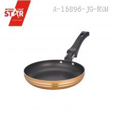 XJ01-14CM Aluminium Alloy 3003 Single Bottom Square Diplonema Pan Skillet