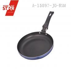 XJ01-16CM Aluminium Alloy 3003 Single Bottom Square Diplonema Pan Skillet