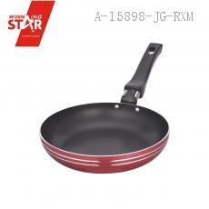 XJ01-18CM Aluminium Alloy 3003 Single Bottom Square Diplonema Pan Skillet