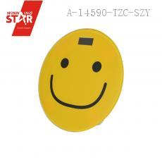 2003A 33*33*3.5cm Smiling Face Stalinite Tempered Glass Electronic Scales