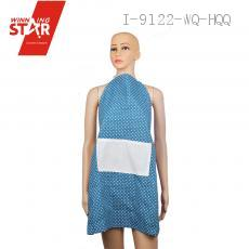 70*77cm Cotton Linen Wave Point Apron Pinafore