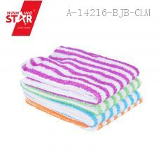 Double-Color Stripe Scouring Pad