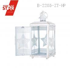 12.5*12.5*29CM White/Black/Red/Green/Blue Colorful Candlestick Made Candle Lantern with Iron and White Transparent Glass