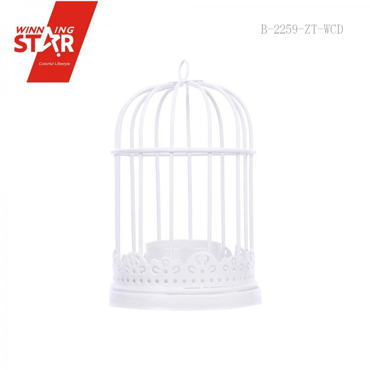 12*12*32cm Beige/White/Black Lovely Colorful Cage Candlestick