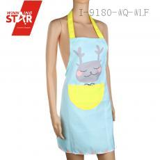 72*60cm Pink/Yellow/Purple/Blue Cartoon Type Picture Apron