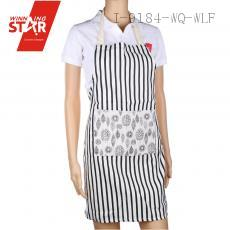 72*60cm Stripe Linen Apron with Colorful Pocket