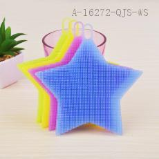 43g Colorful Five-pointed Star Type Rubber Cleaning Brush