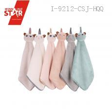 New coral cartoon cat hand towel 5 colors