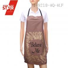 100% cotton bronzing printed aprons 9 colors