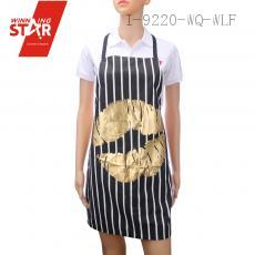 100% cotton stripe bronzing love printed aprons 9 colors