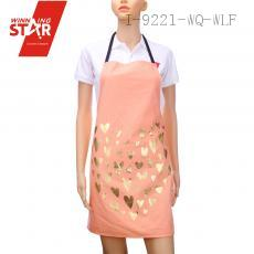 100% cotton bronzing love printed aprons 9 colors