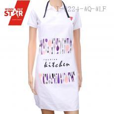 100% cotton tableware printed aprons