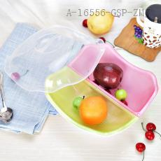 XJ6702 Square two-color Compartment Fruit and Vegetable Basin