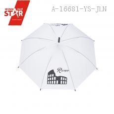 A221 Building Pattrn Long-handle Umbrella 53.5CM*8K