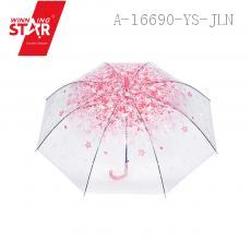 308 Transparent Long-handle Umbrella 59CM*8K