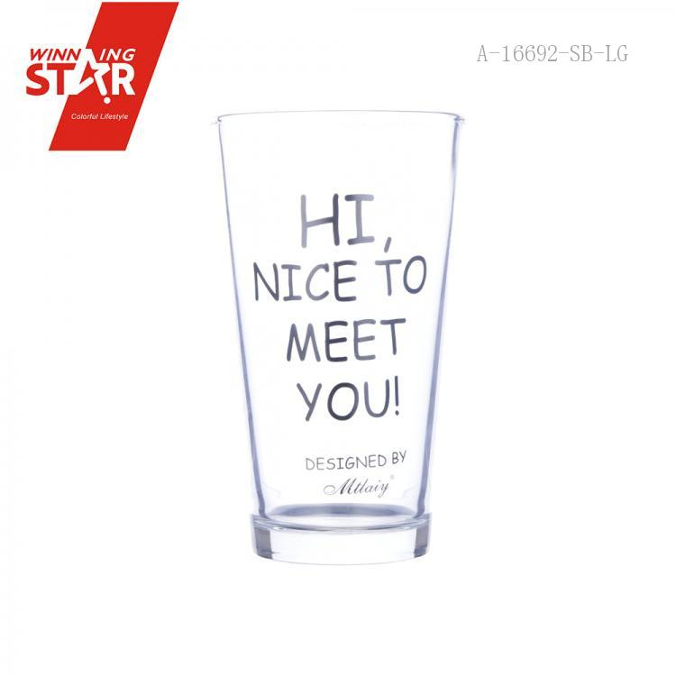 Simple letter glass 15*9cm_Winningstar_Yiwu Manufacturers
