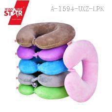 Winning Star Memory Foam Travel U-Shape Neck Pillow, Multicolor