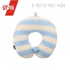 U-shaped Pillow with mixed color stripe 34*32*10cm