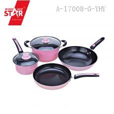 Stainless Steel Pan 4 pcs/set